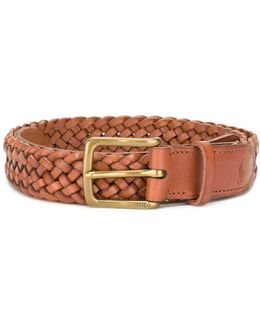 Interlaced Leather Belt