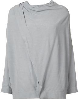 Draped Shoulder Blouse