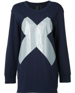 Reflective 'x' Boyfriend Sweatshirt