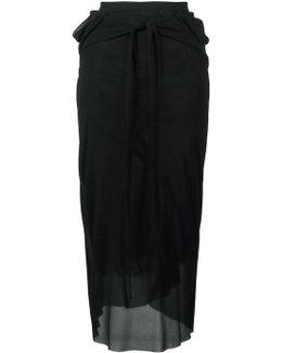 Waist Tie Sheer Skirt