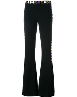 Mirror Embroidered Flared Trousers