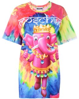 Crowned Elephant Tie-dye T-shirt