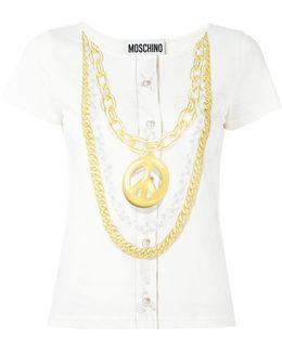 Peace Necklace Print Top