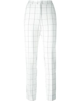 Grid Print Trousers