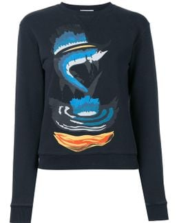 Shark Print Sweatshirt