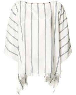 Frayed Striped Tunic