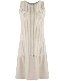 - Round Neck Knit Dress - Women - Viscose - G