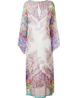 Floral Print Kaftan Dress
