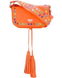 Mirror Embellished Shoulder Bag