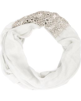 Embellished Cut Out Scarf