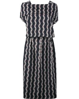 Wavy Print Midi Dress