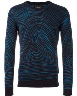Twirled Print Sweatshirt