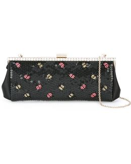 Lady Bugs Embellished Clutch