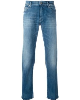 Stone Wash Denim Jeans