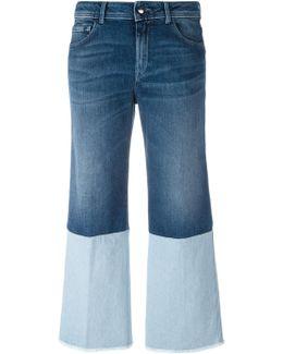 Double-denim Detail Jeans