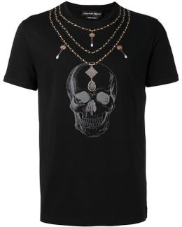 Skull Necklace Print Organic Cotton T-shirt