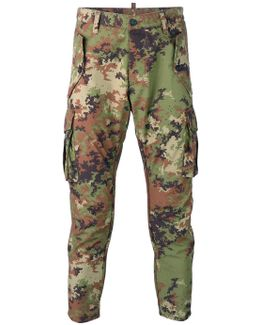 Camouflage Tapered Trousers