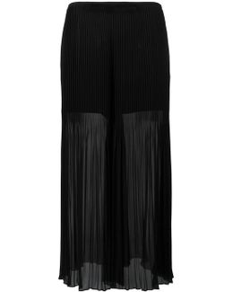 Pleated Detail Flared Pants