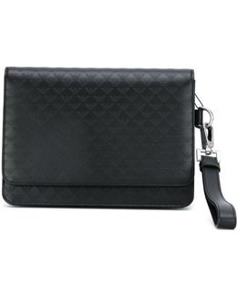 Logo Embossed Clutch