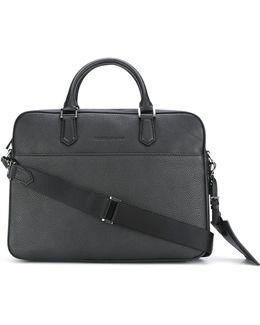 Logo Embossed Laptop Bag