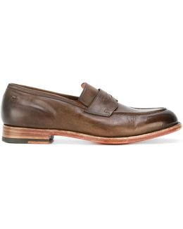 Burnished Toe Loafers