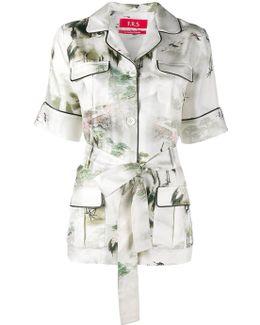 Japanese Print Pyjama Shirt