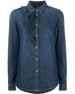 Ruffle Detail Denim Shirt