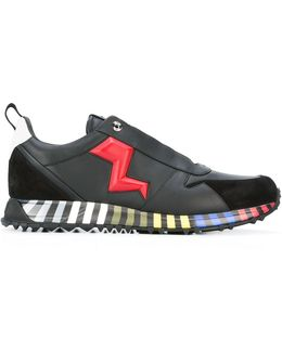 Lightning Bolt Appliqué Sneakers
