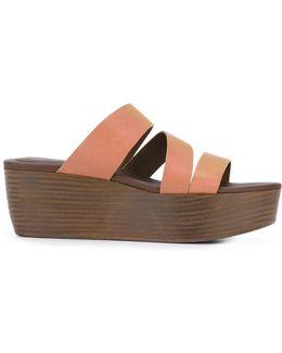 Stacked Platform Sandals