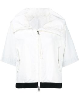 Contrast Trim Cropped Jacket