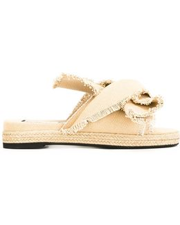 Frayed Trim Sandals