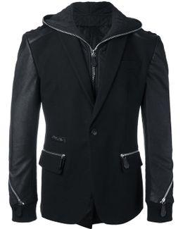 Zip Detailed Blazer Jacket