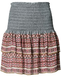Printed Mini Ruffled Skirt