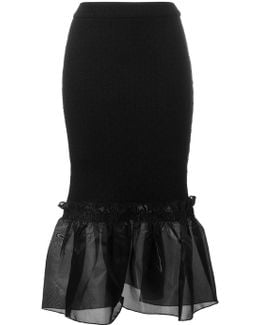 Ruffle Hem Pencil Skirt