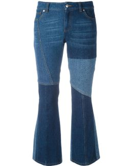 Panelled Kick Flare Jeans