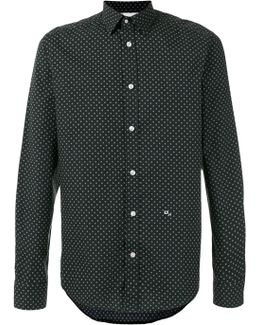 Cross Detail Printed Shirt