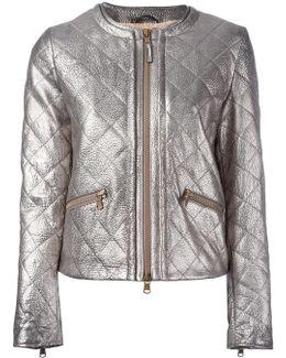 Metallic (grey) Quilted Jacket