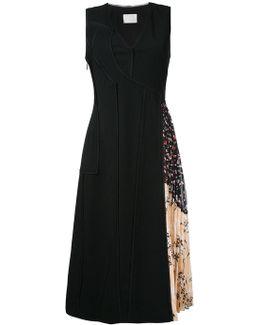 Pleated Side Midi Dress
