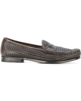 Interlaced Penny Loafers