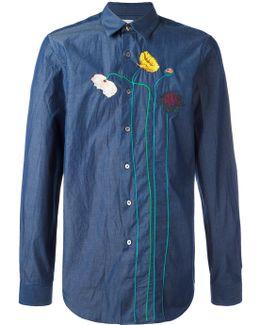 Flower Stem Embroidered Shirt