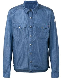 Denim Effect Shirt Jacket