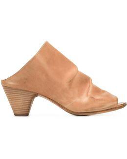 Slip-on Ruched Sandals