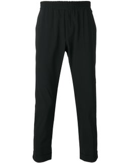 Elasticated-waist Tailored Trousers
