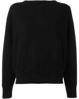 Lace-up Boat Neck Sweatshirt