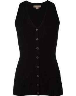 Buttoned Knitted Vest