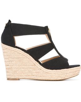 Zip Detail Wedge Sandals