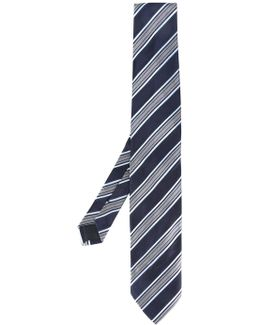 - Striped Tie - Men - Silk/cotton - One Size