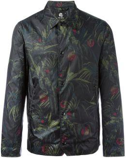 Leaves Print Lightweight Jacket