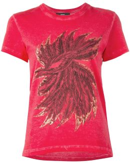 Feathers Print T-shirt