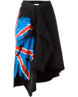 Hand-painted Flag Shirt Skirt